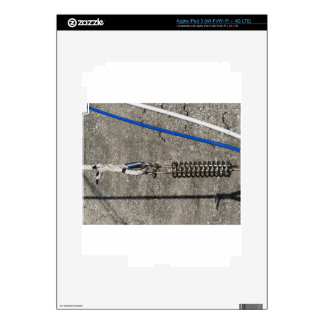 Rope sling with safety anchor shackle iPad 3 skin