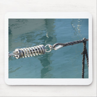 Rope sling with safety anchor shackle mouse pad