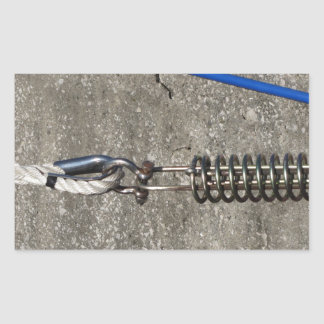 Rope sling with safety anchor shackle rectangular sticker