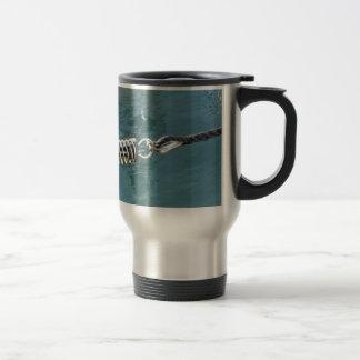 Rope sling with safety anchor shackle travel mug