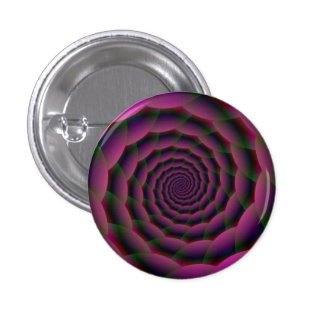 Rope Spiral in Purple Red and Green Button