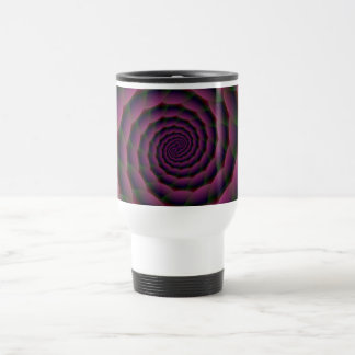Rope Spiral in Purple Red and Green Travel Mug