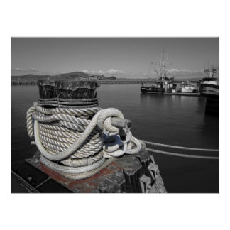 Roped Cleat - San Francisco Harbor Poster