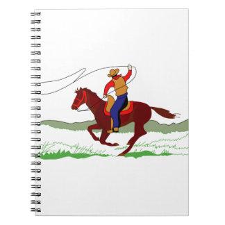Roper in Action Spiral Notebook