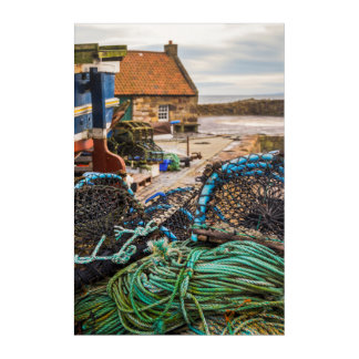 Ropes And Lobster Pots | Pittenweem, Scotland Acrylic Wall Art