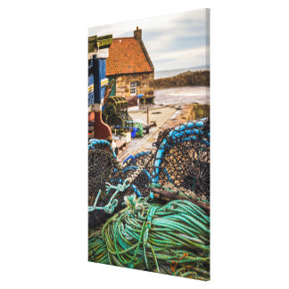 Ropes And Lobster Pots | Pittenweem, Scotland Canvas Print