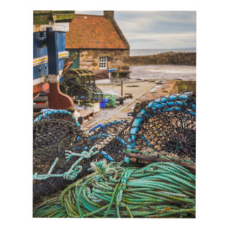 Ropes And Lobster Pots | Pittenweem, Scotland Panel Wall Art