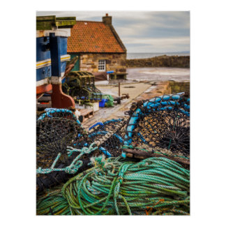 Ropes And Lobster Pots | Pittenweem, Scotland Poster