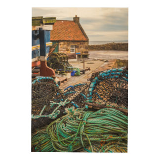 Ropes And Lobster Pots | Pittenweem, Scotland Wood Print