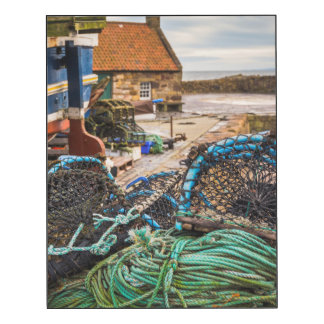 Ropes And Lobster Pots | Pittenweem, Scotland Wood Wall Art