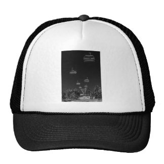 Ropeway over snow covered track trucker hat