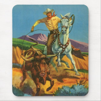 Roping a Steer Mouse Pad