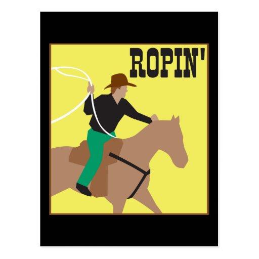 Roping Cowboy Postcard