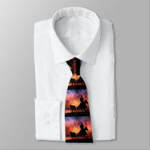Roping Cowboy Tie