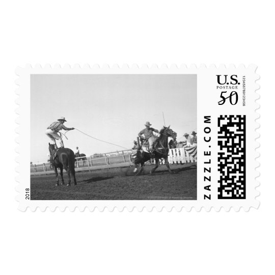 Roping horse postage