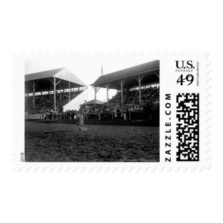Roping tricks at a rodeo postage stamps
