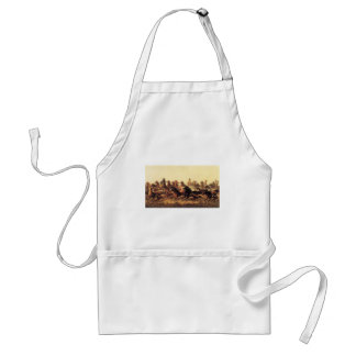 Roping Wild Horses by James Walker Adult Apron