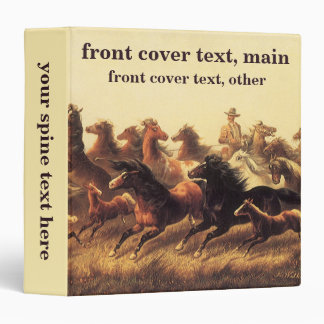 Roping Wild Horses by James Walker Binder
