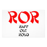 ROR Raff Out Roud Lol Laugh Out Loud Stationery Paper