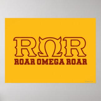 ROR - RUGIDO de OMEGA del RUGIDO - logotipo Impresiones