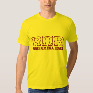 ROR - RUGIDO de OMEGA del RUGIDO - logotipo Playera