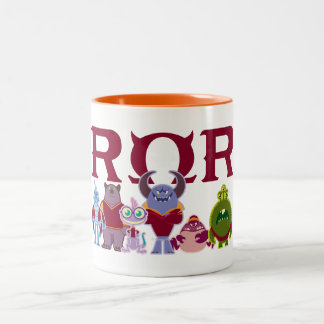 ROR - Scare Students Two-Tone Coffee Mug