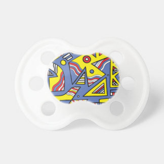 Rorabacher Abstract Expression Yellow Blue BooginHead Pacifier
