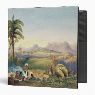 """Roraima, una gama notable de montañas de la piedra carpeta 1 1/2"""""""