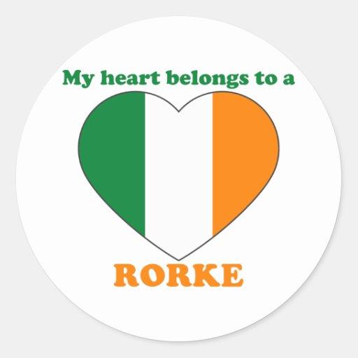 Rorke Round Sticker