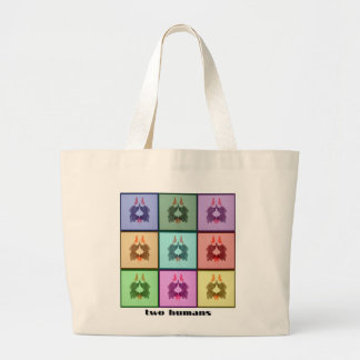 Rors Collage Two Titled Large Tote Bag