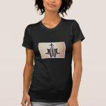 Rors seis fractales camisetas