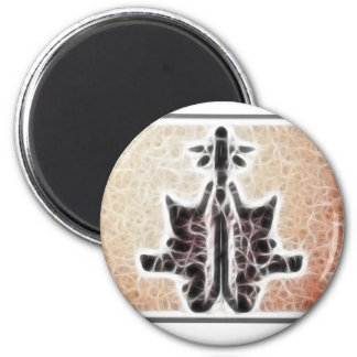 Rors Six Fractal 2 Inch Round Magnet