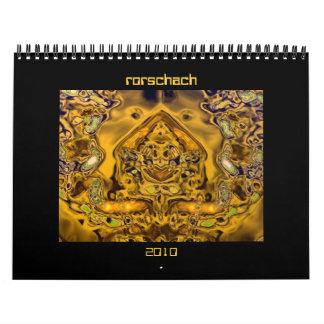 Rorschach 2010 wall calendars