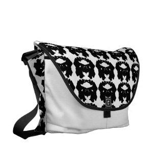Rorschach blanco y negro bolsas de mensajeria