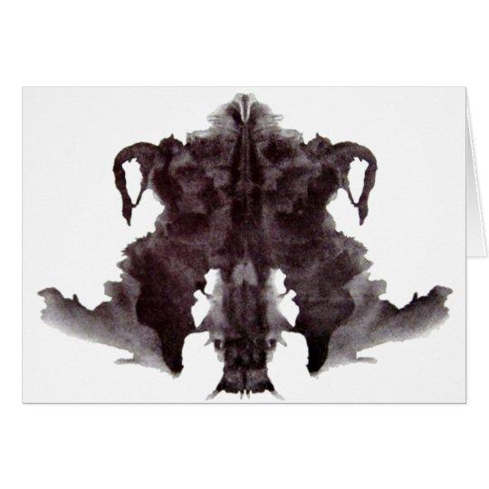 Rorschach Blot 4 Card