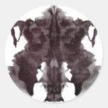 Rorschach Blot 4 Classic Round Sticker