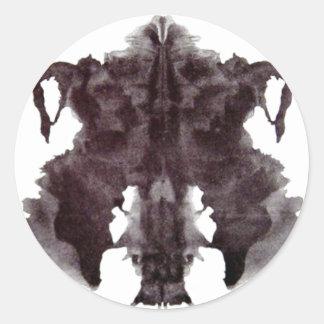 Rorschach Blot 4 Round Stickers