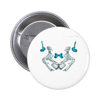 Rorschach Blot Pinback Button