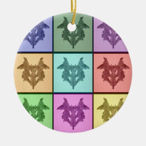 Rorschach Collage 1 Ornament