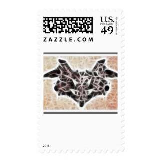 Rorschach Fractal 1 Postage