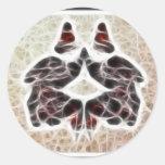 Rorschach Fractal 2 Classic Round Sticker