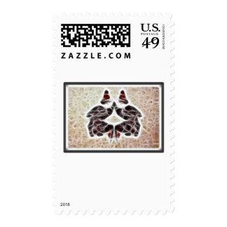 Rorschach Fractal 2 Postage Stamp