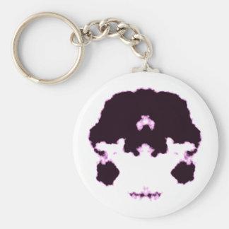 Rorschach inkblot10 basic round button keychain