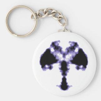 Rorschach inkblot3 basic round button keychain