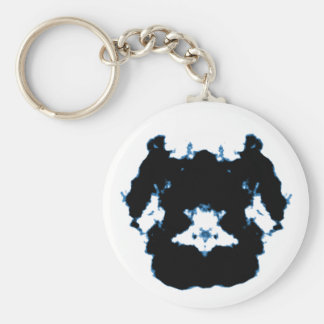 Rorschach inkblot8 basic round button keychain