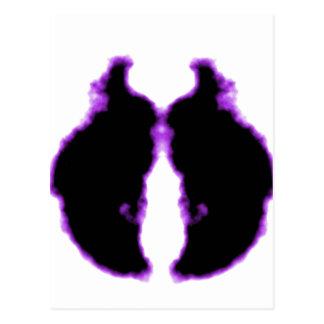 Rorschach inkblot9 tarjeta postal