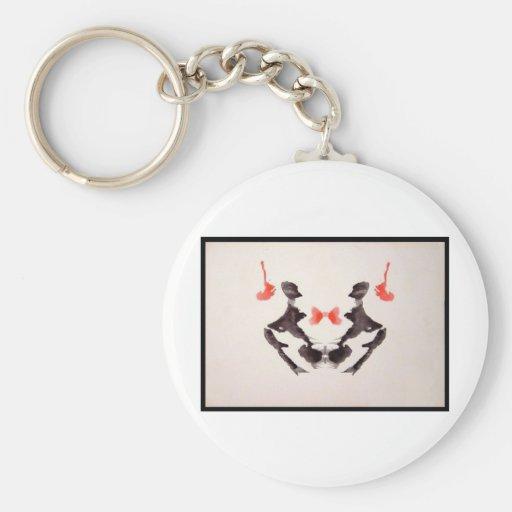 Rorschach Inkblot 3.0 Keychains