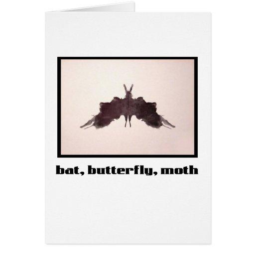 Rorschach Inkblot 5 Card