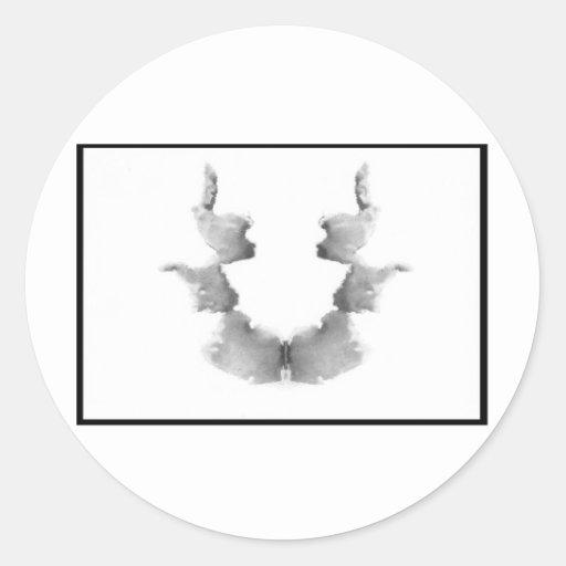 Rorschach Inkblot 7.0 Classic Round Sticker