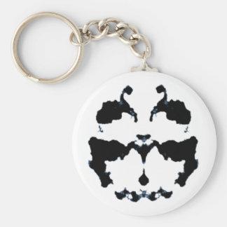 Rorschach inkblot basic round button keychain